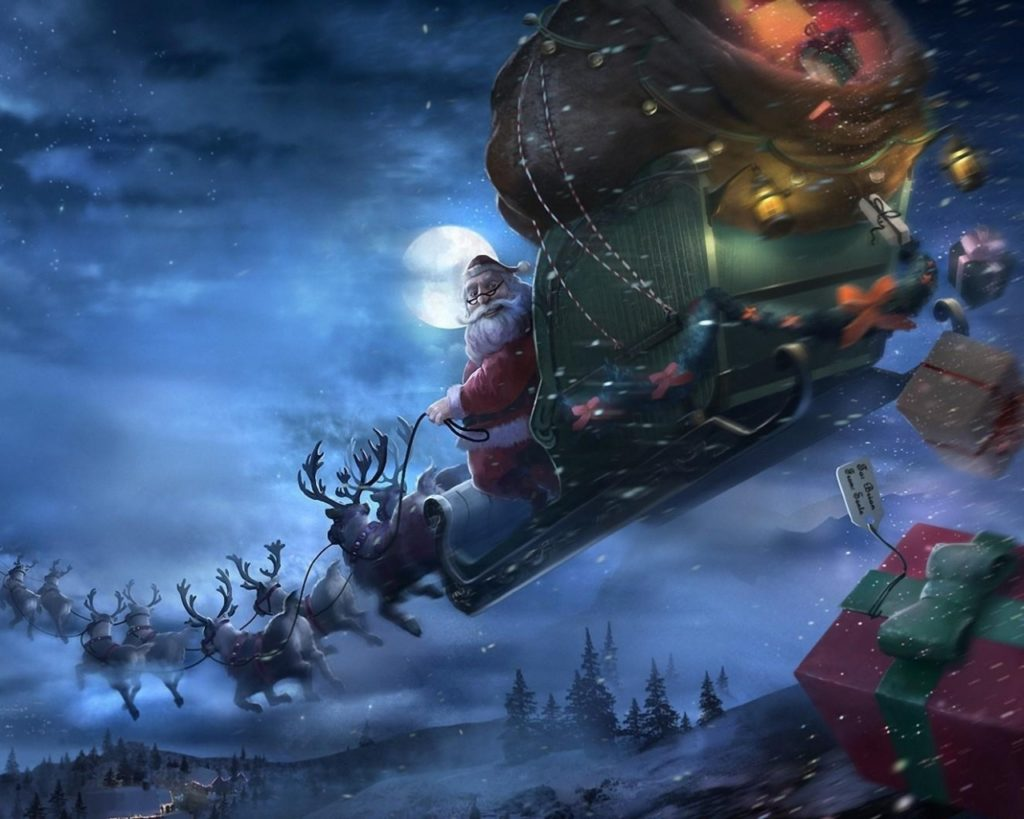 santa_claus_reindeer_sleigh_flying_gifts_christmas_68922_1280x1024