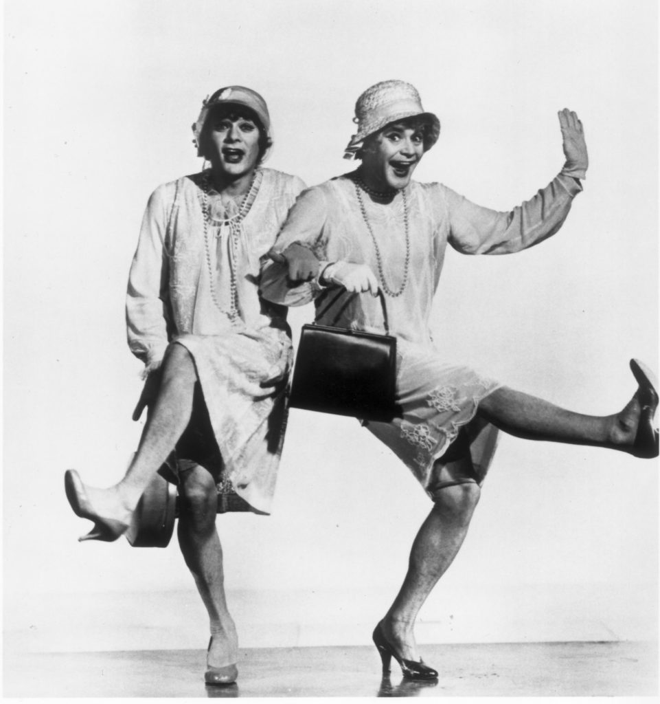 "(Left to right) Tony Curtis and Jack Lemmon are shown here in a scene from the movie ""Some Like It Hot."" Handout file photo."